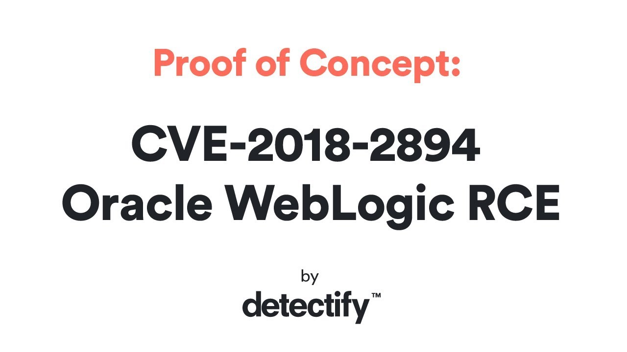 Proof of Concept: CVE-2018-2894 Oracle WebLogic RCE