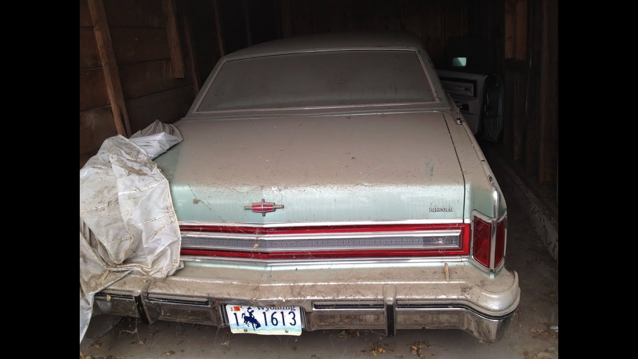 barn find 1978 lincoln continental town car garage find