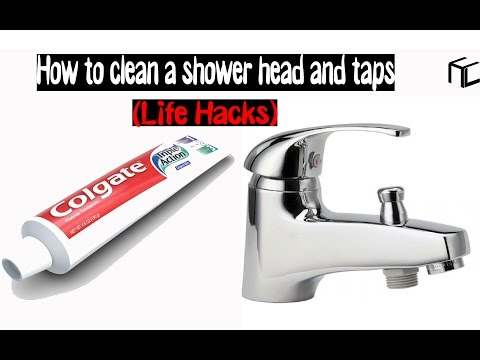 How to clean a shower head and taps (Life Hacks)