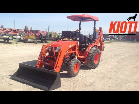 2019 Kioti CK2610 HST Compact Tractor with KB2475L Backhoe