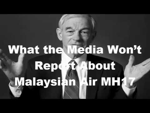 Wack Out Ron Paul What the Media Won't Report About Malaysian Air MH17