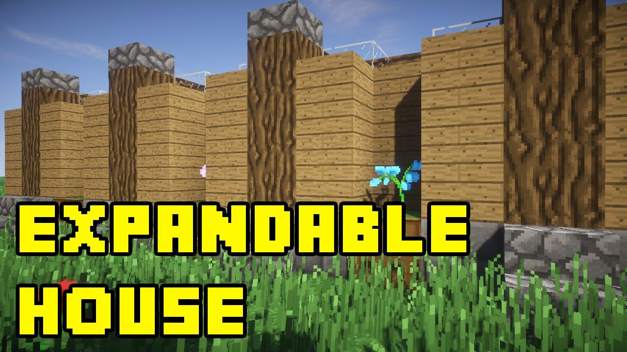 Minecraft: Simple Expandable House/Base Tutorial Xbox/PE ...