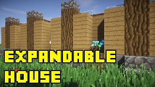 Minecraft: Simple Expandable House/Base Tutorial Xbox/PE/PC/PS3/PS4