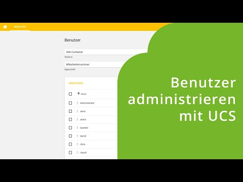 Einführung in die Benutzeradministration mit UCS