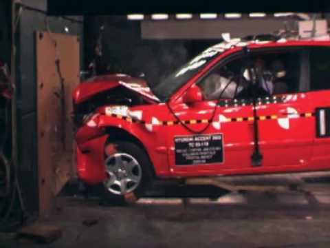 2003 Hyundai Accent 3 Dr 30 Mp H Nhtsa Frontal Impact