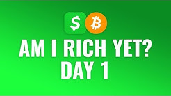 Buying $1 Bitcoin Every Day with Cash App - DAY 1