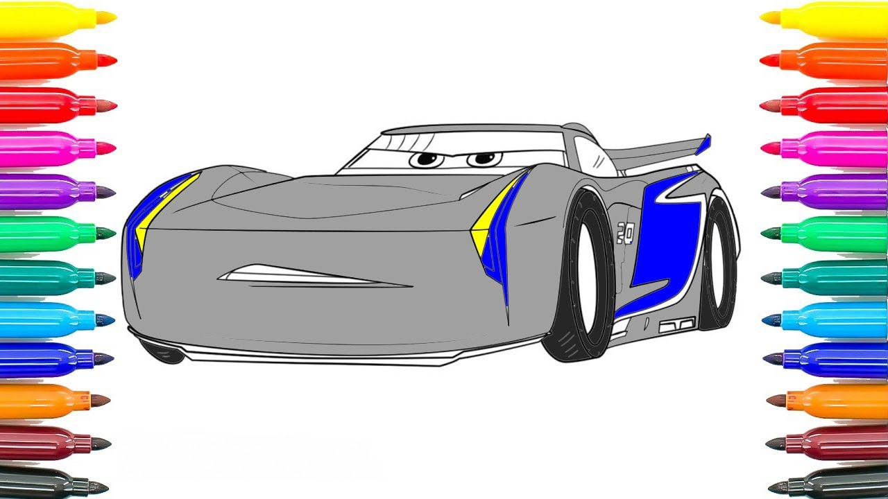 How To Draw Cars 3 Jackson Storm Coloring Pages How To Paint Jackson