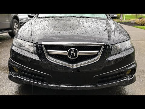 Blacked out grill on the Acura TL Type S!