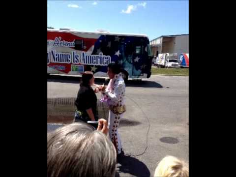 Elvis visits The News Herald