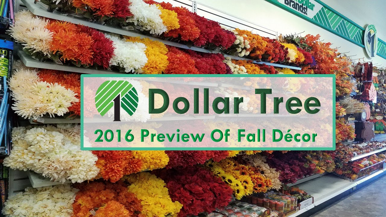 Dollar tree 2016 preview of fall decorations youtube for Decor 2016