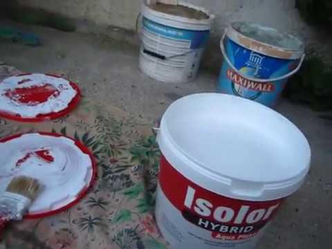 Покрытие крыши водостойкой краской