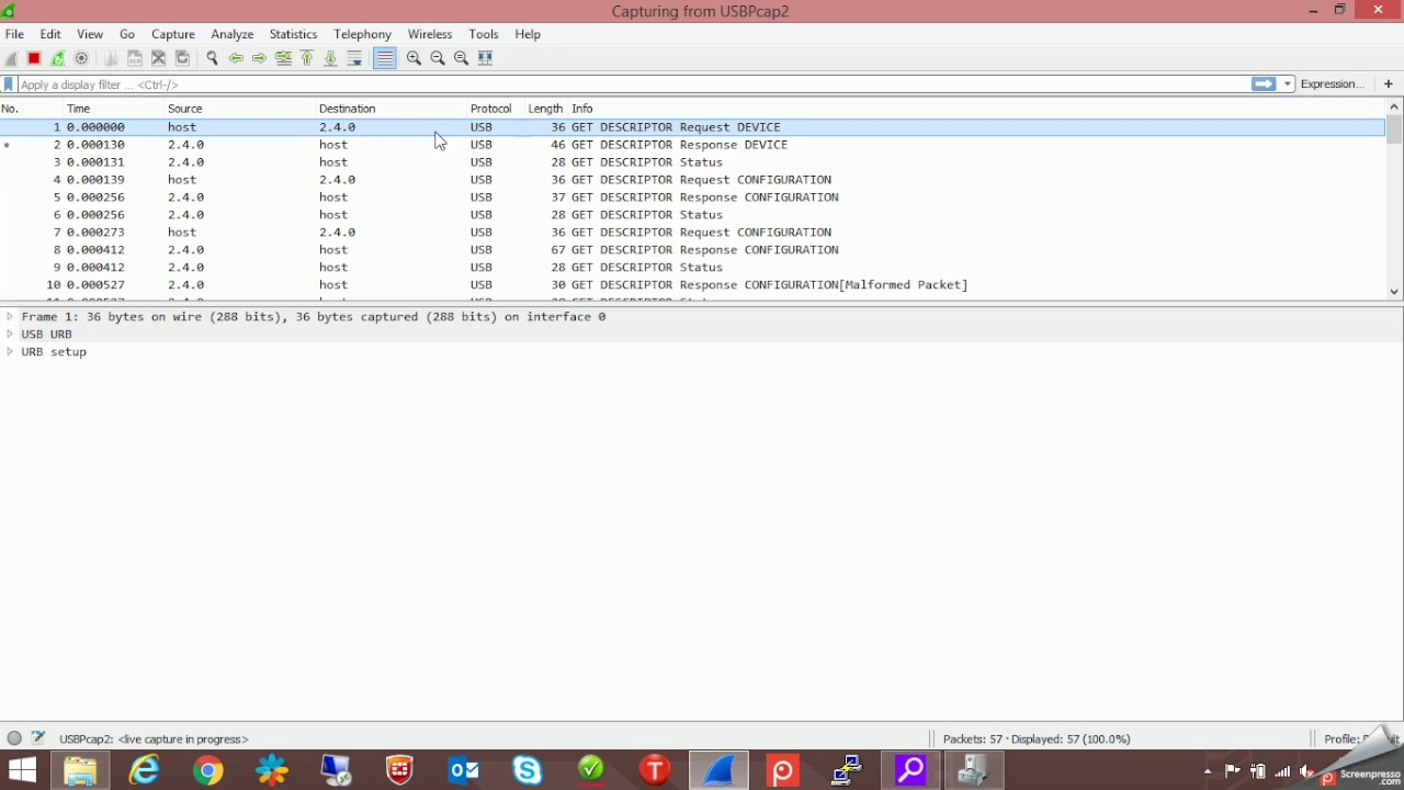 USB basics in Wireshark