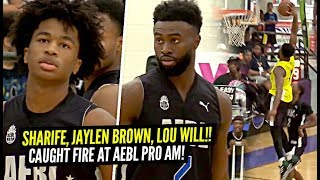 Sharife Cooper & Jaylen Brown vs Lou Williams at AEBL Pro AM!!! Sharife GETS SHIFTY!! Jaylen POSTER!