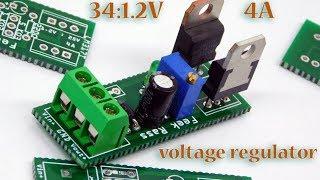 اصنع بنفسك دائرة لتنظيم التيار من 34 الى1.2 فولت 4 امبير Voltage regulator PCB board