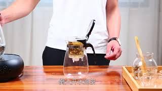 Заварочный стеклянный чайник с кнопкой (TeaPot)