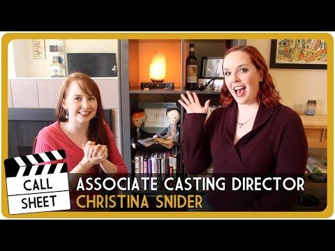 Call Sheet: A Conversation with Associate Casting Director Christina Snider!