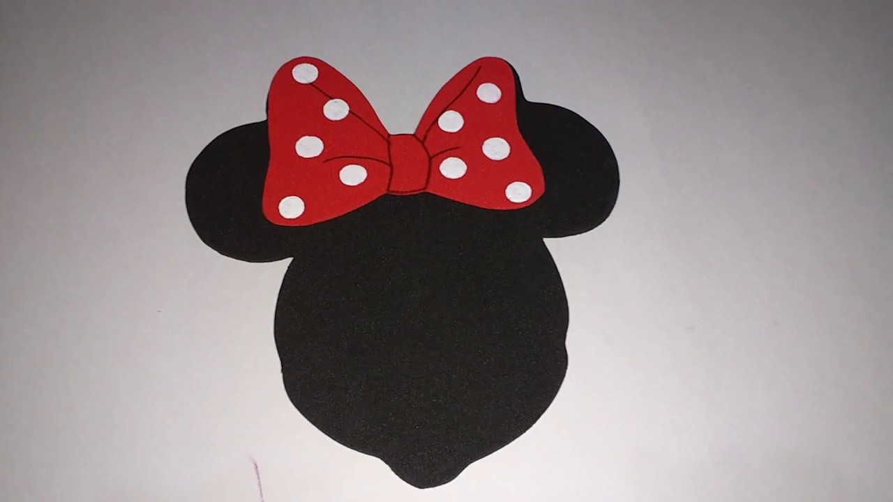 Decorando O Laço Da Minnie Com Molde Youtube