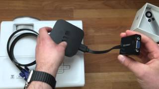HowTo: Apple TV an VGA Projektor Beamer anschließen