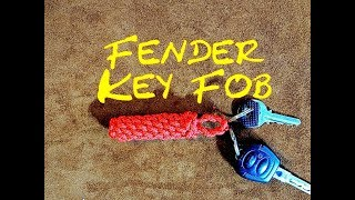 Rope Fender Key Fob  - How to Make a Rope Fender Key Fob - Paracord Fender Key Fob