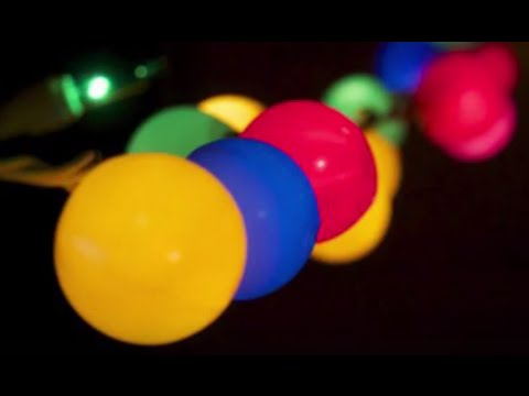 String Lights Ping Pong Balls : Party Lights - Fun Craft with String Lights and Ping Pong Balls - YouTube