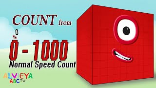 Numberblocks 0 - 1000 - Learn to Count v.2 - Normal Speed Count