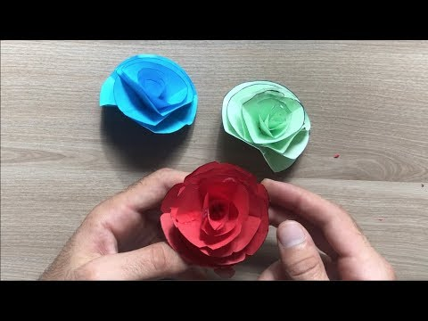 Paper Flower Wall Hanging | Origami Rose Flower Craft