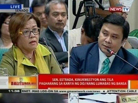 Sec. de Lima, sumalang sa confirmation hearing ng Commission on Appointments