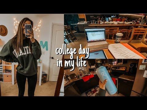 college day in my life: preparing for finals, study guides, yoga, etc