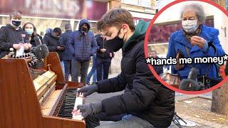 I played DEMON SLAYER OP (Gurenge, Homura) on piano in public