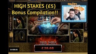 HIGH STAKES SLOTS v WAGERING! £6000 TO GO! CASHOUT OR FAIL??? (slots bonus compilation)