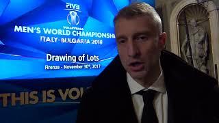 30-11-2017: #fivbmenswch - Ivan Miljkovic commenta il girone dei mondiali 2018 della Serbia