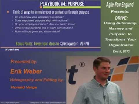 DRIVE: Using Autonomy, Mastery and Purpose to Transform Your Organization