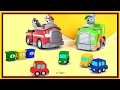 TRASH! Cartoon Cars Compilation - Paw Patrol Toys - Robocar Toy Cars - Om Nom Trucks Videos for kids