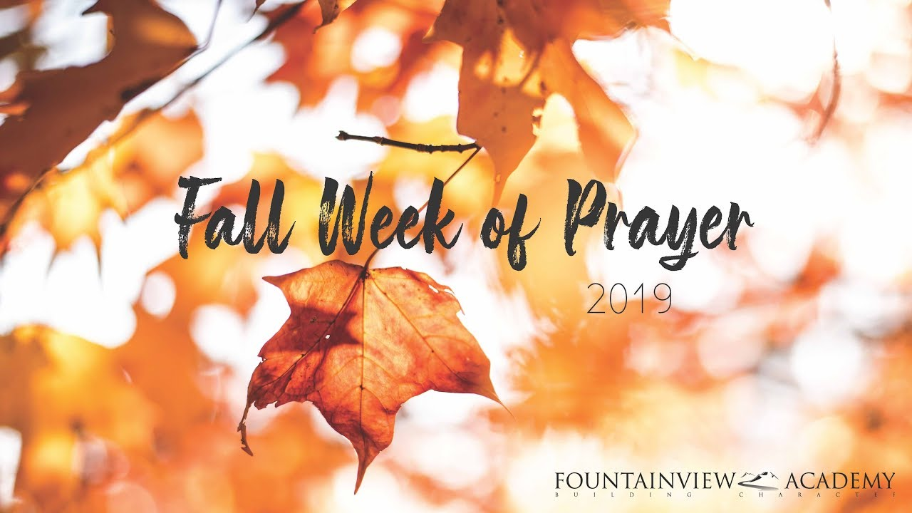 Fall Week of Prayer 2019 - Kameron DeVasher - Tuesday