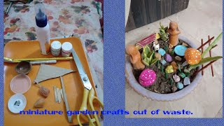Miniature garden fairy garden how to miniature garden crafts with waste .please like share and subscribe my channel recyle ideas with dira your queries ...