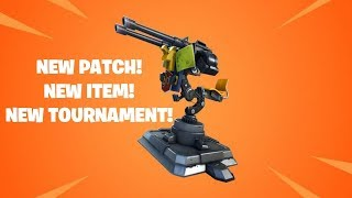 NEW PATCH! NEW *MOUNTED TURRET* NEW TOURNAMENT! FORTNITE PC NOOB DAY #25