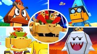Mario & Luigi: Paper Jam - All Papercraft Bosses (No Damage)