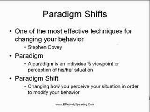 Use Paradigm Shifts To Overcome The Fear Of Public Speaking Youtube