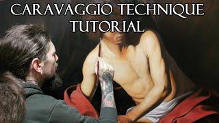 Caravaggio Technique Tutorial - St. J๐hn the Baptist