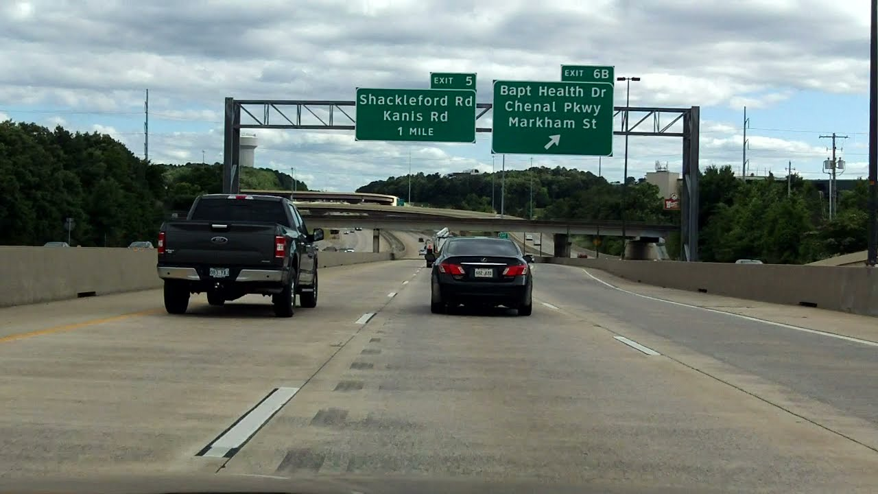 West Belt Freeway (Interstate 430 Exits 6 to 1) southbound