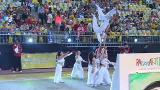 Chingay Parade 2014: Preshow Chinese acrobats
