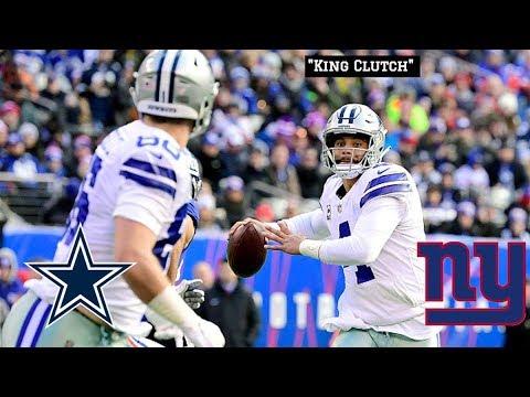"Dak Prescott Defeats The Giants  || Dallas Cowboys Film Session ""King Clutch"""