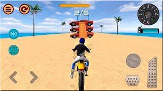 Motocross Beach Race Jumping 3D #Dirt Motor Cycle Racer Game