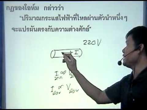 ติวphysics14ไฟฟ้ากระแส กฎของโอห์ม2.1
