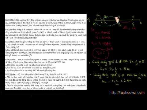 Vật Lí 8 - Đề thi HSG lớp 8 - Đề số 1 - Phần 1