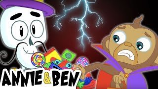 Chumbala Cachumbala with the Dancing Skeletons  | Halloween Songs 2018 for Kids by Annie and Ben thumbnail