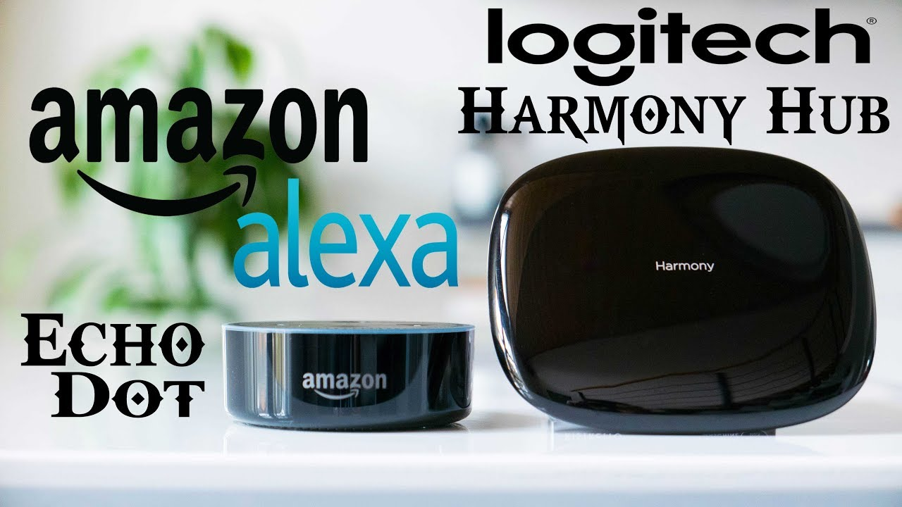 aad1255eb8d Logitech Harmony Hub and Amazon Alexa Echo Dot Now Voice Controls My  Entertainment Center! (HD)
