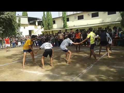 R J thakur college thane kabbadi match 2016