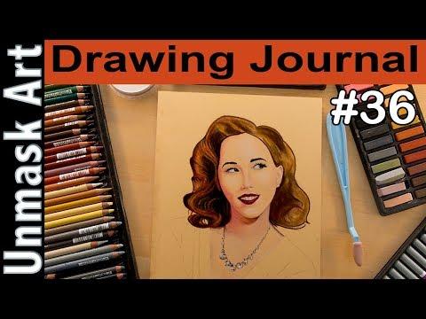 """""""Pastel Portrait Study Part 3"""" Drawing Journal LIVE #36"""