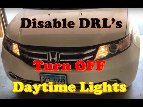 Honda Odyssey Disable Daytime Running Lights DRL - YouTube